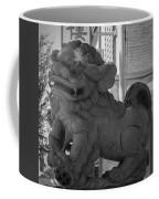 Chinese Guardian Female Lion B W Coffee Mug