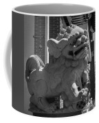 Chinese Guardian Male Lion B W Coffee Mug