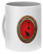 Chinese Zodiac - Year Of The Rat On White Leather Coffee Mug