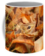Chipmunk Among The Leaves Coffee Mug