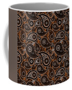 Chocolate Brown Paisley Design Coffee Mug