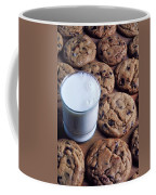 Chocolate Chip Cookies And Glass Of Milk Coffee Mug