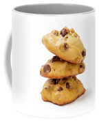 Chocolate Chip Cookies Isolated On White Background Coffee Mug