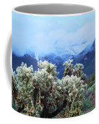 Cholla Cactus And Superstition Mountains Coffee Mug
