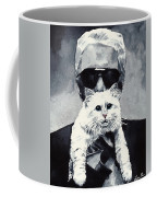 Choupette Cat And Karl Lagerfeld Coffee Mug by Laura Row