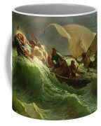 Christ Asleep In His Boat  Coffee Mug by Jules Joseph Meynier