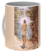 Christ Baptised By John The Baptist Coffee Mug by William Brassey Hole