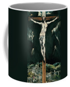 Christ Crucified With Toledo In The Background Coffee Mug