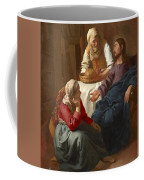Christ In The House Of Martha And Mary Coffee Mug