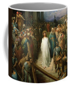 Christ Leaves His Trial Coffee Mug by Gustave Dore