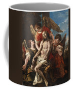 Christ Mourned By Three Angels Coffee Mug