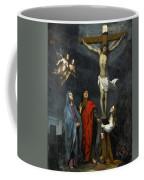 Christ On The Cross With Saint John And Mary Magdalene Coffee Mug