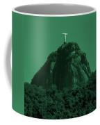 Christ The Redeemer In Green Sky Coffee Mug