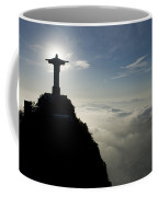 Christ The Redeemer Statue At Sunrise Coffee Mug by Joel Sartore