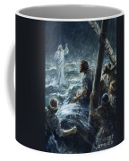 Christ Walking On The Sea Of Galilee Coffee Mug