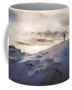 Christian Cross On Mountain Coffee Mug
