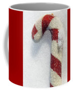 Christmas Candy Cane On Real Snow Coffee Mug