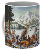 Christmas Card Depicting A Pioneer Christmas Coffee Mug