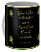 Christmas Card With Scripture - Luke 2 14 Coffee Mug