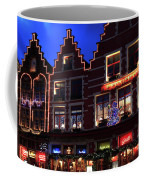 Christmas Decorations On Buildings In Bruges City Coffee Mug