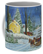 Christmas Eve In The Country Coffee Mug by Charlotte Blanchard