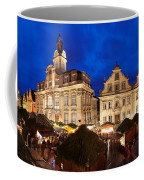 Christmas Fair In Front Of Town Hall Coffee Mug