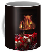 Christmas Gifts By The Fireplace Coffee Mug