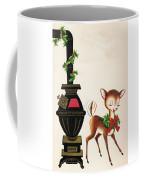 Christmas Illustration 1217 - Vintage Christmas Cards - Reindeer Coffee Mug
