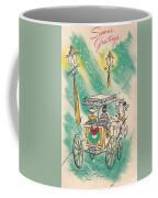 Christmas Illustration 1218 - Vintage Christmas Cards - Horse Drawn Carriage Coffee Mug