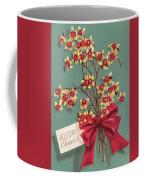 Christmas Illustration 1228 - Vintage Christmas Cards - Holiday Cheer - Flowers Coffee Mug