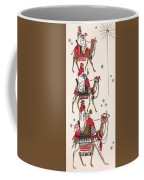 Christmas Illustration 1234 - Vintage Christmas Cards - Three Kings On Camel Coffee Mug