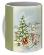 Christmas Illustration 15 - Winter Ladscape During Christmas Time Coffee Mug