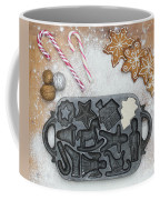 Christmas Interior With Sweets And Vintage Kitchen Tools Coffee Mug