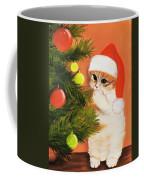 Christmas Kitty Coffee Mug by Anastasiya Malakhova
