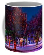 Christmas Lights At Locomotive Park Coffee Mug