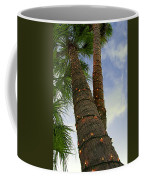Christmas Lights On Palm Trees Coffee Mug