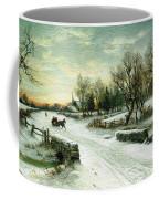 Christmas Morn Textured Coffee Mug