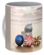 Christmas Ornaments On The Beach Coffee Mug