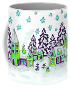 Christmas Picture In Green And Blue Colours Coffee Mug