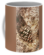 Christmas Pinecone On Barn Floor Coffee Mug