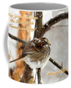 Christmas Sparrow - Christmas Card Coffee Mug