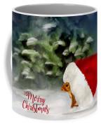Christmas Squirrel  Greeting Card Coffee Mug