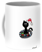 Christmas Train Kitty Cat Coffee Mug