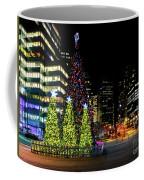 Christmas Tree On New Year's Eve In The Street Of A Big City Coffee Mug