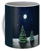 Christmas Trees In The Moonlight Coffee Mug