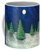 Christmas Trees In The Snow Coffee Mug