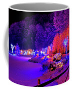 Christmas Trees Row And Frozen Lake View Coffee Mug