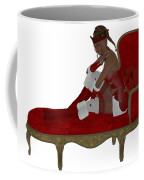 Christmas Woman On Couch Coffee Mug