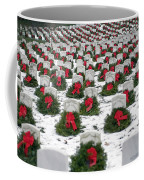 Christmas Wreaths Adorn Headstones Coffee Mug