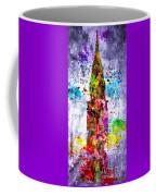 Chrysler Building Colored Grunge Coffee Mug